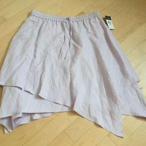 Ralph Lauren Brand NEW  plus sz 1X linen skirt